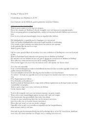 Zondag 27 februari 2011 Overdenking over Mattheus 6, 22-34 Lieve ...