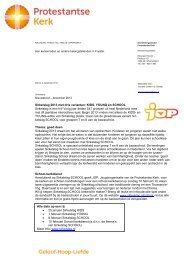 Nieuwsbrief - Protestantsekerk.net