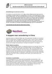 4 stappen naar verandering in China - Protestantsekerk.net