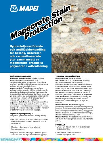 Mapecrete Stain Protection Mapecrete Stain Protection - Mapei