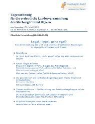 Tagesordnung für die ordentliche ... - Marburger Bund