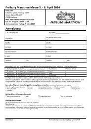 Anmeldung Freiburg Marathon Messe 2014