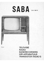 saba televisie 1969 - marcels tv museum