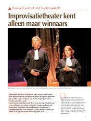 Improvisatietheater kent alleen maar winnaars Theatersport wordt ...