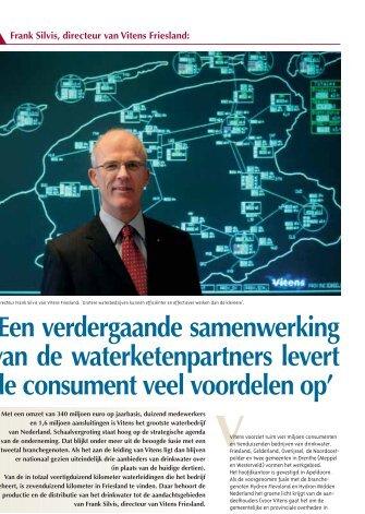 Frank Silvis, directeur van Vitens Friesland