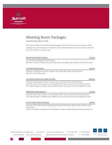 Audio Visual Meeting Room Packages