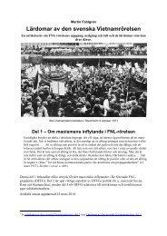 Lärdomar av den svenska Vietnamrörelsen, del 1 - Marxistarkiv