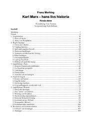 Karl Marx - hans livs historia. Del 1 - Marxistarkiv