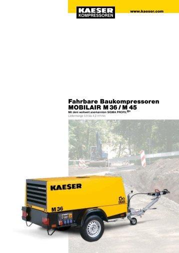 Fahrbare Baukompressoren MOBILAIR M 36 / M 45