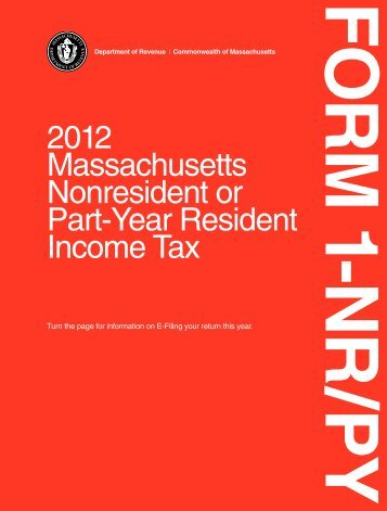 Form 1-NR/PY Instructions - Mass.Gov