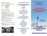 Conference and Annual Scientific Meeting Call ... - Massey University