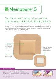 Absorberende bandage til kontinente stomier med blød ...