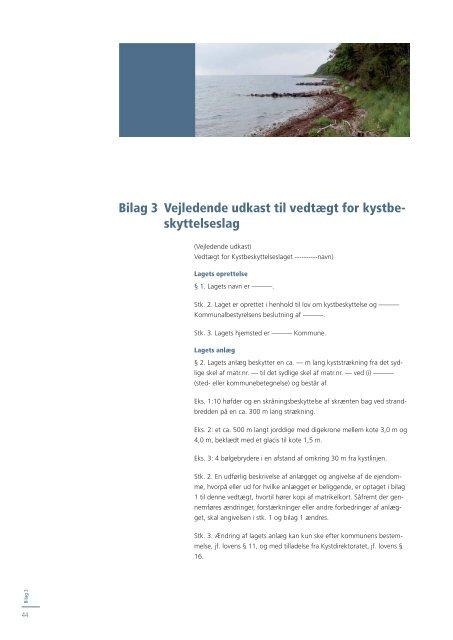 Vejledning til lov om kystbeskyttelse