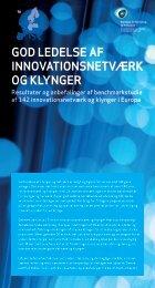 God ledelse af innovationsnetværk oG klynGer