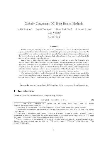 Globally Convergent DC Trust-Region Methods