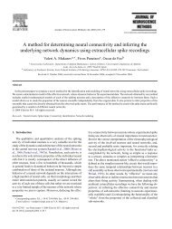 A method for determining neural connectivity and inferring the ...