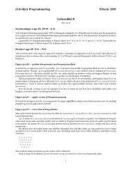 (Udvidet) Programmering Efterår 2001 Løbeseddel 8