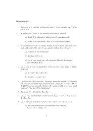 Hemuppgifter: 1. Mängden A är dubbelt så sannolik som B. Hur ...