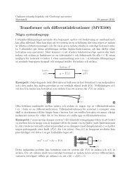 Text om linjära system, styckvis definierade funktioner och ...
