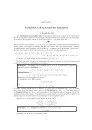 Komplekse tall og komplekse funksjoner