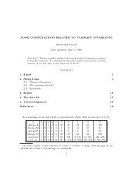 SOME COMPUTATIONS RELATED TO VASSILIEV INVARIANTS ...