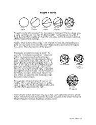 Regions in a circle