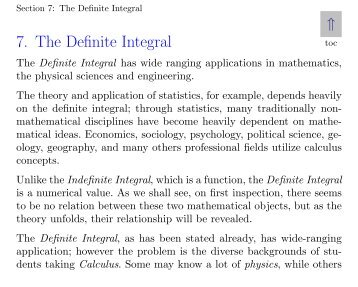 7. The Definite Integral