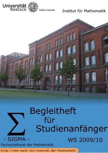 Untitled - Fachbereich Mathematik der Universität Rostock