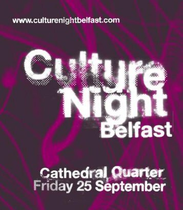 Culture Night Belfast - In Your Pocket