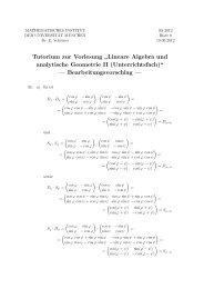 Bearbeitungsvorschlag - Mathematisches Institut