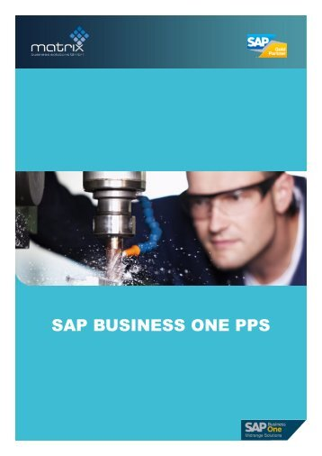 SAP BUSINESS ONE PPS - Matrix Business Solutions