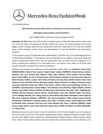 download pdf - Mercedes-Benz Fashion Week