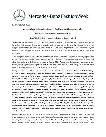 download pdf - Mercedes-Benz Fashion Week