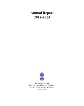 Annual Report 2012-2013 - Department of Science and Technology