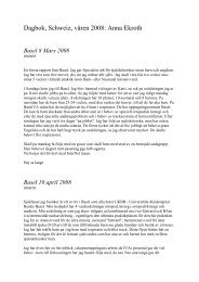 Dagbok, Schweiz, våren 2008 Anna Ekroth (pdf 12,6 kB)