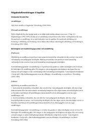 Högskoleförordningen 4 kapitlet