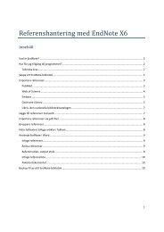 EndNote X6 lathund för studenter (pdf 723,0 kB)