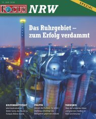 Das Ruhrgebiet – zum Erfolg verdammt - FOCUS MediaLine