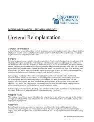 Ureteral Reimplantation - Medicine - University of Virginia