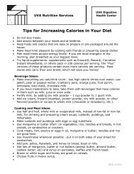 Tips for Increasing Calories in Your Diet - Medicine