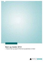 Barn og medier 2012 - Medietilsynet