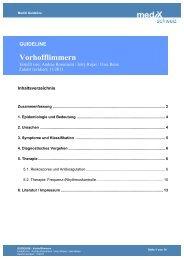 GUIDELINE Vorhofflimmern - mediX schweiz