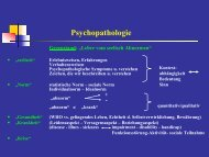 Psychopathologie - Medizinische Universität Graz