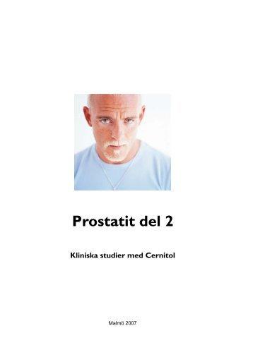 Prostatit del 2 - Välkommen till medref.se