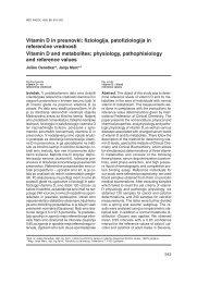 Vitamin D in presnovki: fiziologija, patofiziologija in referen~ne ...