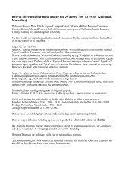 Referat af træner/leder møde onsdag den 29. august 2007 kl. 19.30 i ...