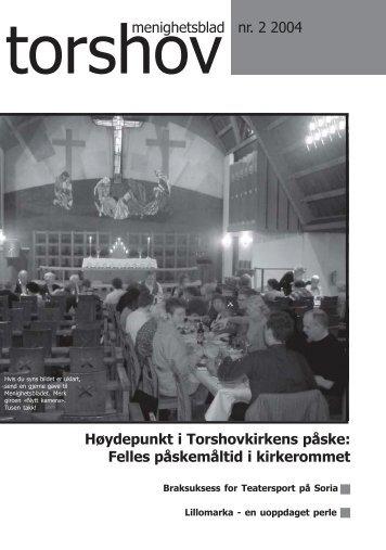 Felles påskemåltid i kirkerommet - Menighetsbladet