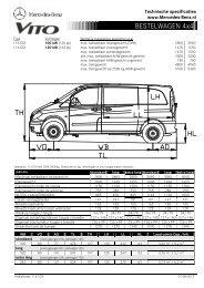 Gesloten bestelwagen 4x4 (per 01-10-2010) - Mercedes-Benz