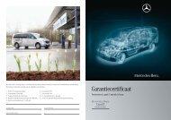 Garantiecertificaat - Mercedes-Benz
