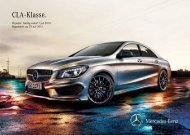 Download de CLA-Klasse prijslijst (PDF) - Mercedes-Benz